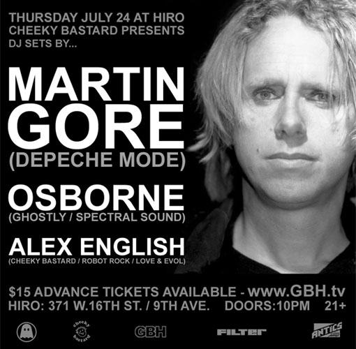 Martin Gore DJ